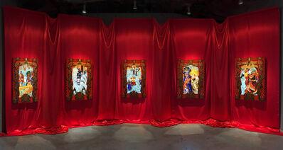 Federico Solmi, 'The Ballroom (5 video painting installation)', 2016