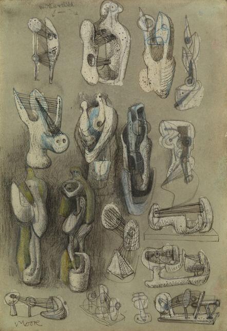 Henry Moore, 'Eighteen Ideas for Sculpture', 1939