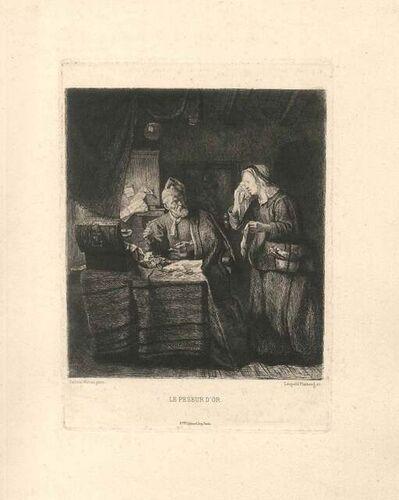 Leopold Flameng, 'Le Peseur d'Or', 1873