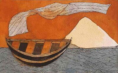 "Badri Narayan, 'The Celestial Garment, Watercolor on Paper by Padmashree Artist Badri Narayan ""In Stock""', 2006"