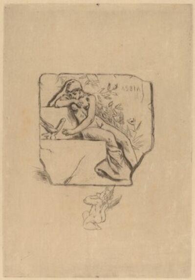 Félicien Rops, 'The Sparrow of Lesbie (Le moineau de Lesbie)'