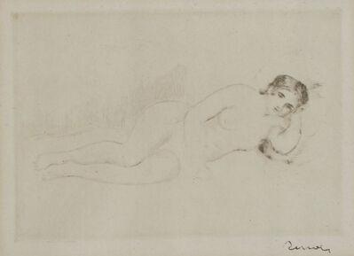 Pierre-Auguste Renoir, 'Femme nue Couchée (Tournée à Droite) 1re planche', 1906