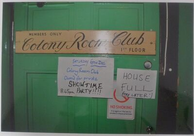 William Corbett, 'Colony Room Door', ca. 1990
