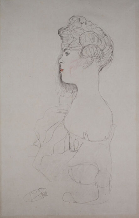 Gustav Klimt, 'Portrait of a Woman [Fünfundzwanzig Handzeichnungen]', 1919