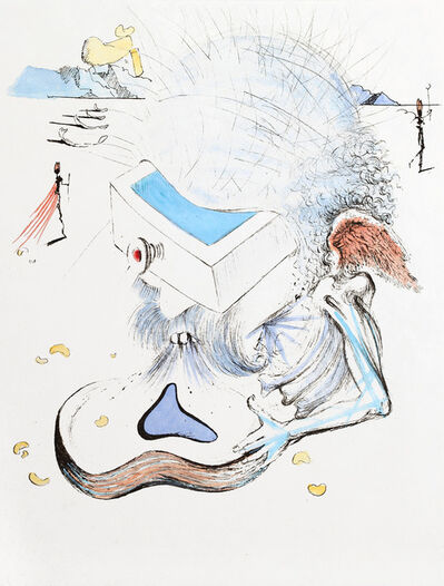 Salvador Dalí, 'Apollinaire : Head with Drawer', 1967