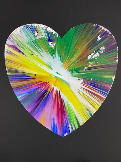 Damien Hirst, 'Heart (original acrylic spin painting)', 2009
