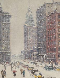 Guy Carleton Wiggins, 'Lower New York, Winter', Date unknown
