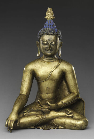'Seated Buddha Reaching Enlightenment. Central Tibet', 11th-12th century