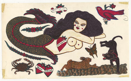 Rosie Camanga, 'Untitled (Mermaid Crab Hare vs. Dog)', 1950-1980