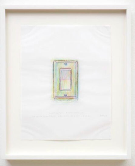 Do Ho Suh, 'Rubbing/Loving Project: Light Switch, Apartment A, 348 West 22nd Street, New York, NY 10011 USA', 2014