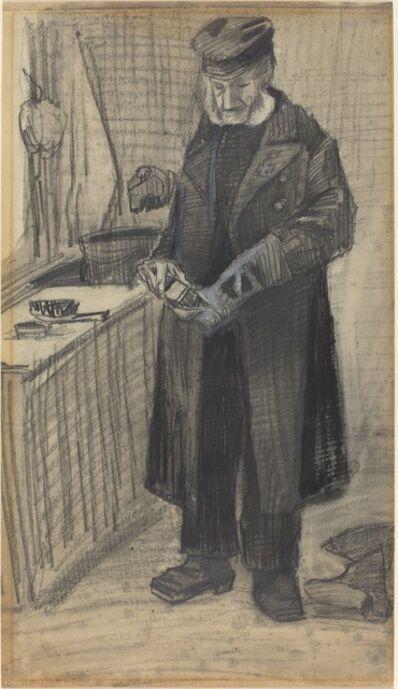 Vincent van Gogh, 'Man Polishing a Boot', 1882