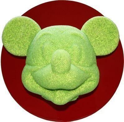David Mach, 'Mickey Mouse Head (Green)', 2014