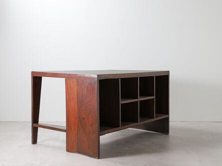 Pierre Jeanneret, 'Pierre Jeanneret Office Table Desk with Bookcase, Model No PJ-BU-02-A', 1957-1958