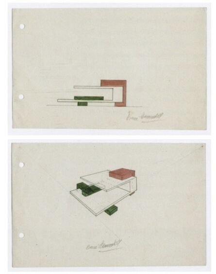 Noemi Escandell, 'Bocetos para estructuras(Volúmenes; Cuerpos y desplazamientos)', Bocetos para estructuras  (Volúmenes; Cuerpos y desplazamientos)