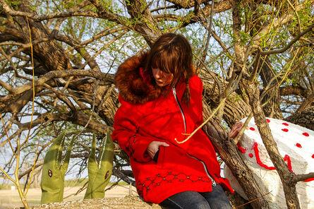 Amalie Atkins, 'Jess with Bird Puppets', 2008