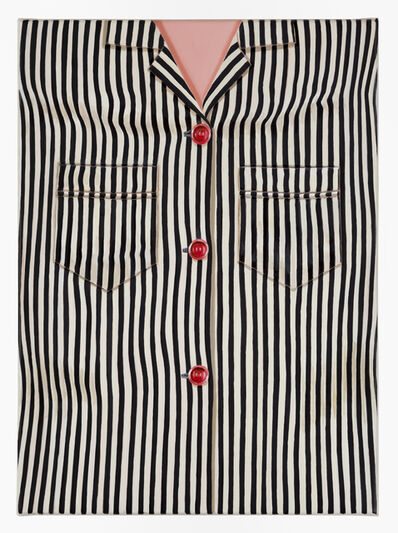 Jan Murray, 'Striped Shirt (Black, One Pocket)', 2014