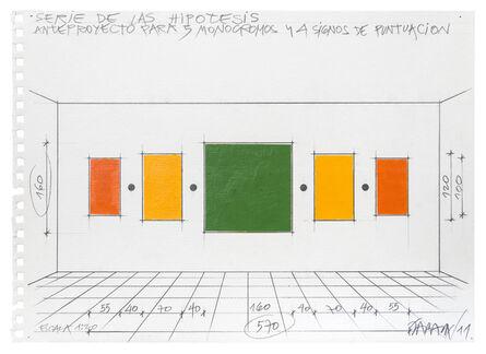 Horacio Zabala, 'Anteproyecto para 5 monocromos y 4 signos de puntuación', 2011