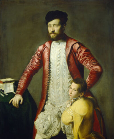 Follower of Titian, 'Alessandro Alberti with a Page', mid 16th century
