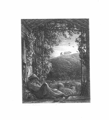 Samuel Palmer, 'The Sleeping Shepherd', ca. 1854