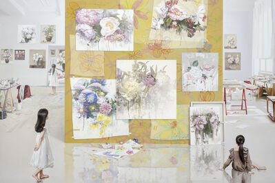 Bae Joon Sung, 'The Costume of Painter - at the studio-flower doodling 1', 2016