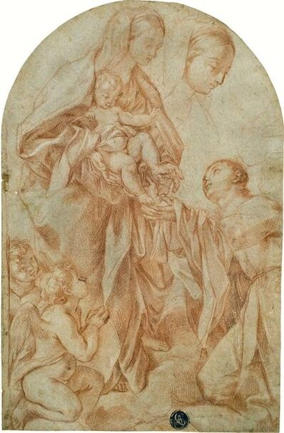 Carlo Maratti, 'Madonna and Child and Saint with Two Angels', ca. 1680