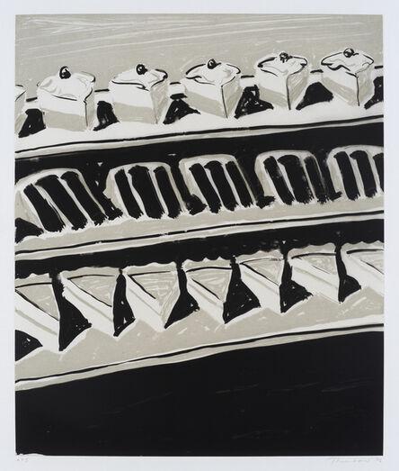 Wayne Thiebaud, 'Dark Cakes and Pies', 2006
