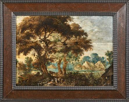 Kerstiaen De Keuninck, 'Untitled (wooded landscape with animals)'