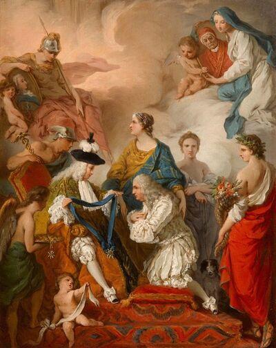 Pierre Subleyras, 'The Duke of Saint-Aignan decorating the Prince Vaini'