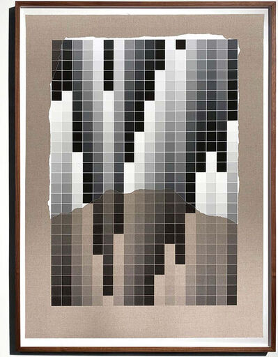Analía Saban, 'Transcending Pigment from Paint to Canvas, from Canvas to Paint (Black and White) No. II', 2020