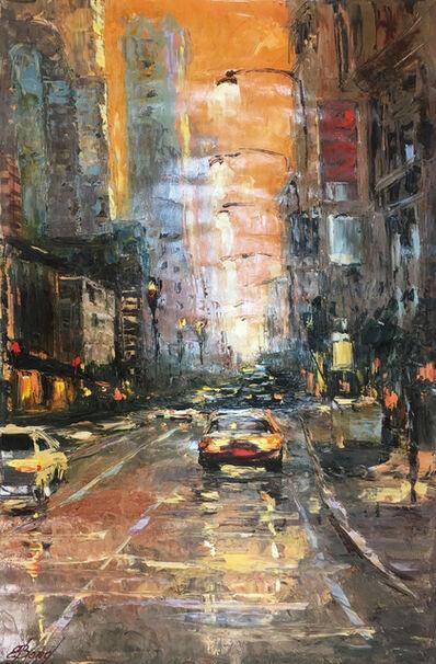 Elena Bond, 'Orange Sky NY'