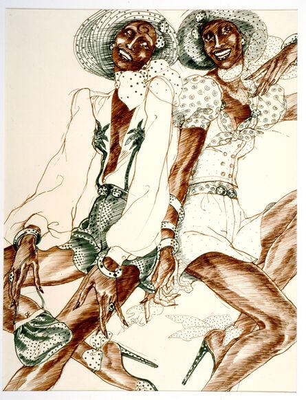 Antonio Lopez, 'Carole Laurie 2 Paris', 1971