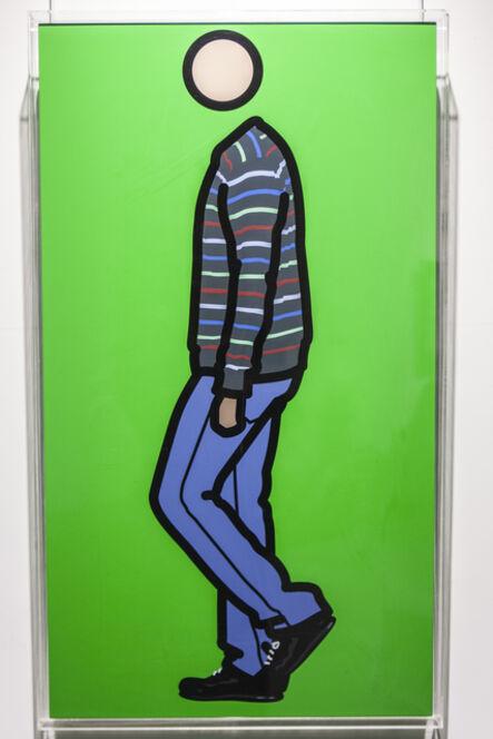 Julian Opie, 'Jeremy walking in stripy jumper 1', 2010