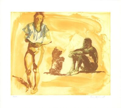 Eric Fischl, 'Beach Scene with Poodle', 1997