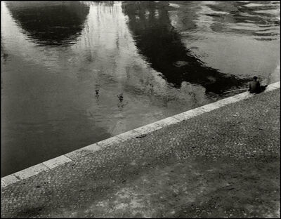Herbert List, 'Fisher at the Pont Neuf. Paris, France', 1936