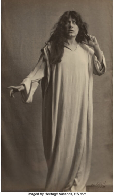 Arnold Genthe, 'Julia Marlowe as Ophelia in Hamlet', circa 1916
