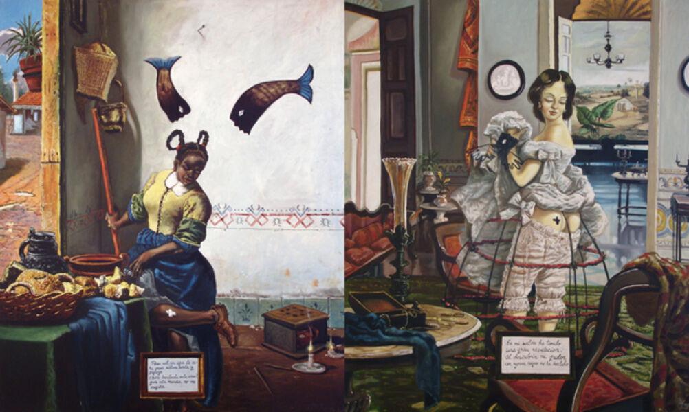 Douglas Perez Castro, 'Aqui el que no tiene de una cosa tiene de la otra', 1997