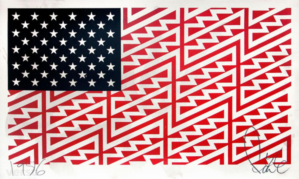 FAILE, 'Star Spangled Shadows (Faile Flag)', 2009