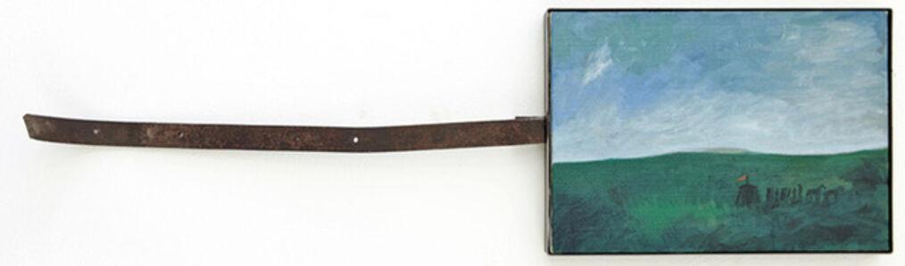 Mimmo Paladino, 'Paesaggio con paesaggio di bandiere', 2006