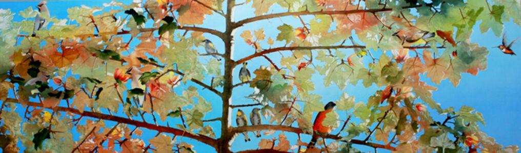 Kay Bradner, '20 Blossoms and 13 Birds', 2018