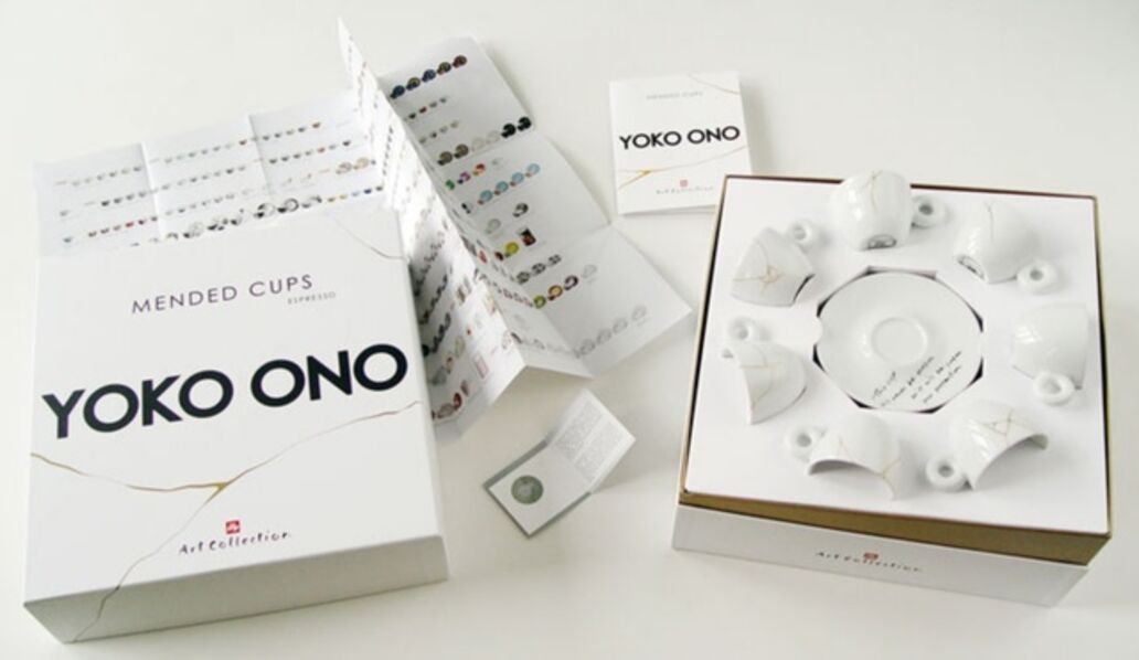 Yoko Ono, 'Suite of Seven (7) Unbroken Teacups and Saucers', 2015