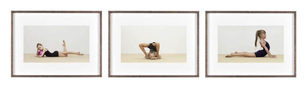 Rineke Dijkstra, 'The Gymschool, St. Petersburg (Anna, Eva, Lera) #2', 2014