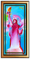 Peter Max, 'PETER MAX Original Signed PAINTING on CANVAS Acrylic STATUE OF LIBERTY Head Art', 21st Century