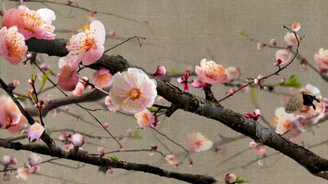 Lee Lee Nam, 'Blooming Ume Flowers on Assa Cloth', 2013
