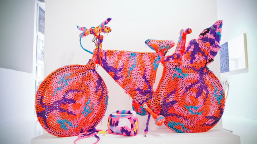 Olek, 'Crocheted Object #10 (Bicycle)', 2010