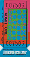 Andy Warhol, 'Lincoln Center Ticket (Feldman II.19)', 1967