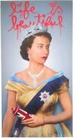 "Mr. Brainwash, 'MR BRAINWASH ""LIFE IS BEAUTIFUL"" ELIZABETH II LITHOGRAPH LONDON EXCLUSIVE UK', 2012"