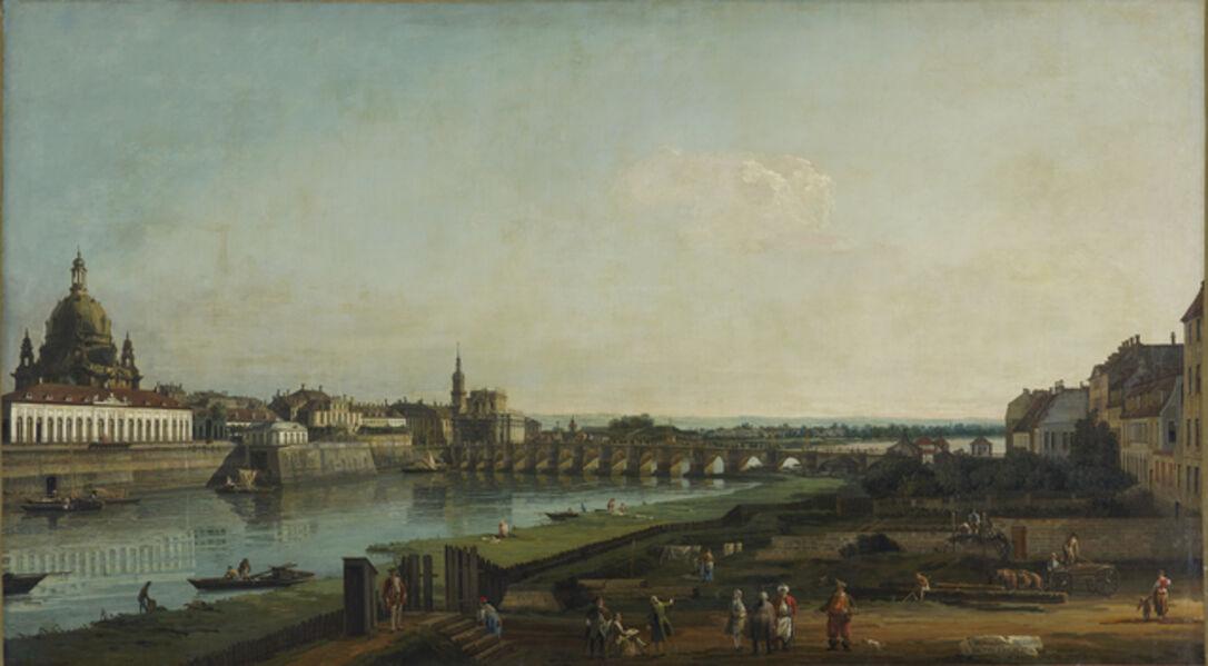 Bernardo Bellotto, 'Dresden from the Right Bank of the Elbe above the Augustus Bridge', 1747