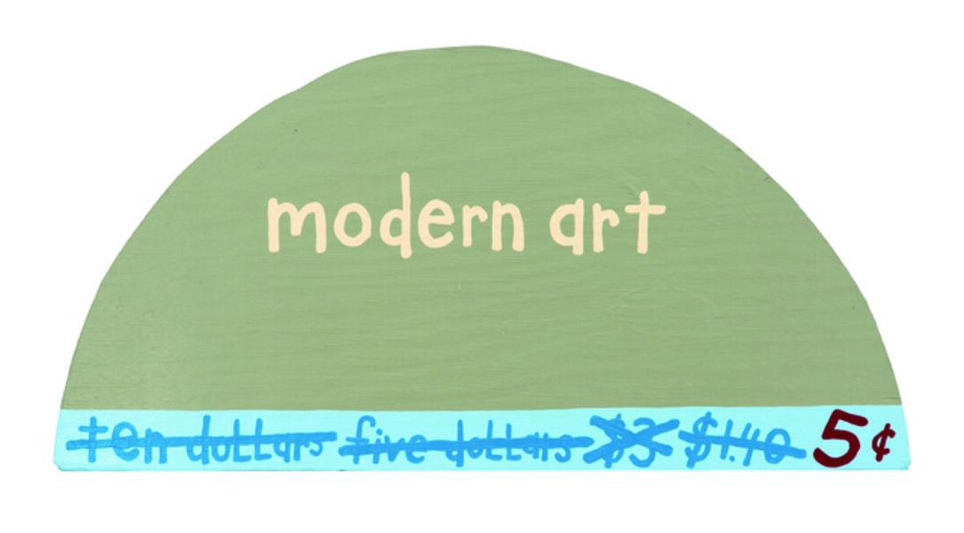 """Cary Leibowitz (""""Candy Ass""""), 'Modern Art 5 Cents', 1995"""