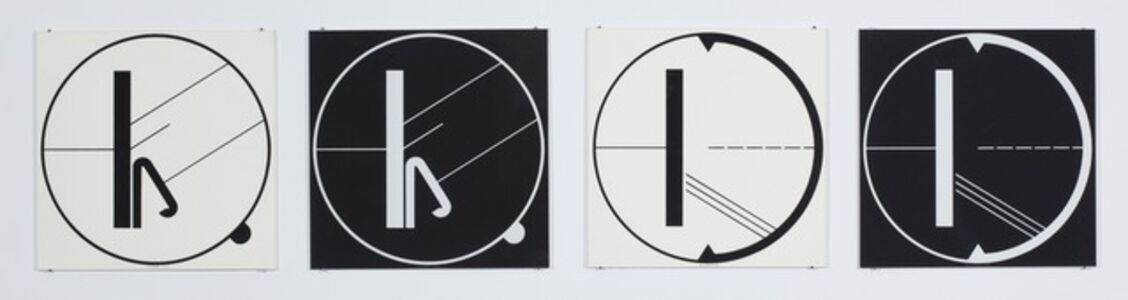 Manfred Mohr, 'Untitled (2x2 seriography set)', 1968
