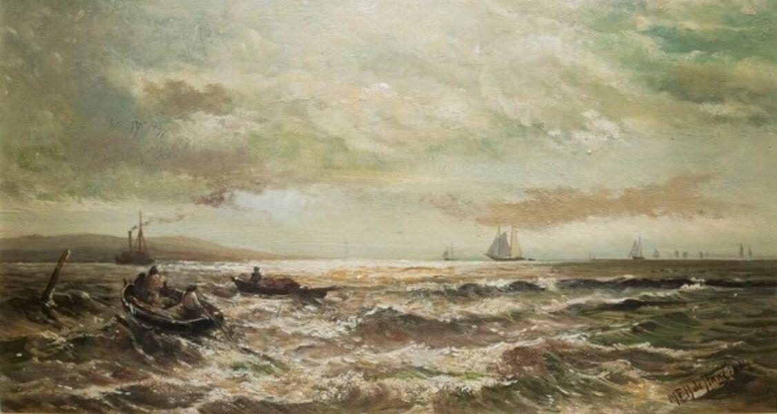 Mauritz Frederik Hendrik de Haas, 'Harbor Scene',